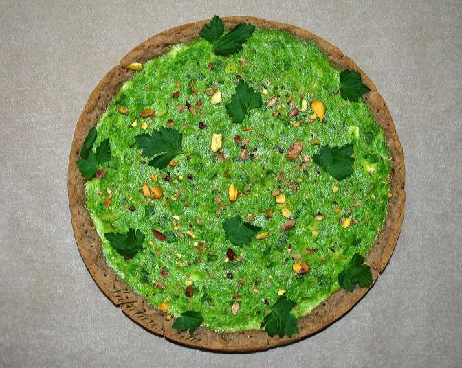 Pea Buckwheat Cake. Пиріг із Зеленого Горошку з Гречаним Коржем