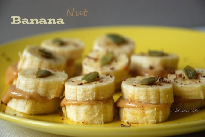Banana Nut Butter Snack. Банано-горіховий перекус.
