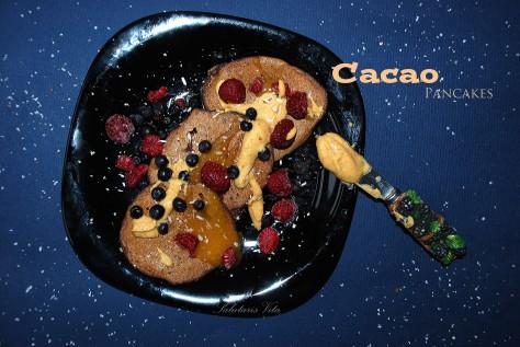 Cacao milk thistle pancakes