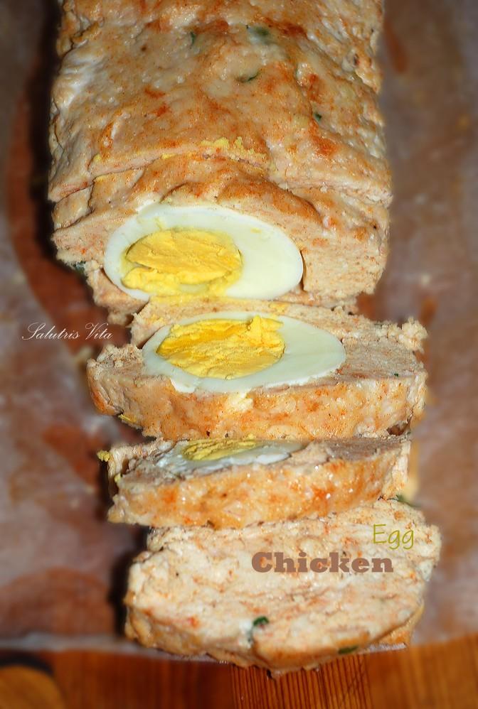 Chicken Breast Loaf. Хлібець з Курячого Філе та Яєць.