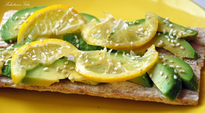 avocado lemon snack