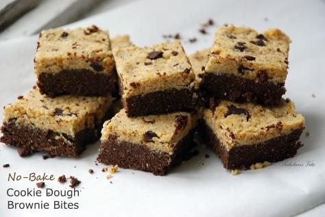 no bake cookie dough brownie bites