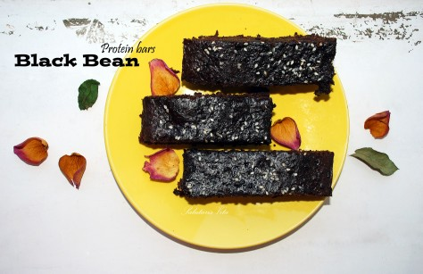black bean protein bar
