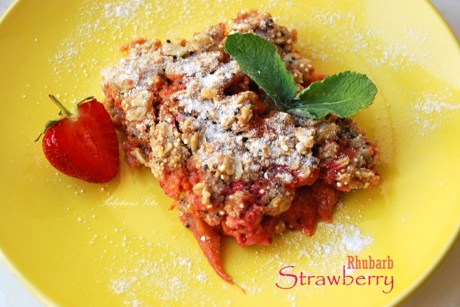 Strawberry Rhubarb Cobbler. Полунично-Румбаборовий Партач.