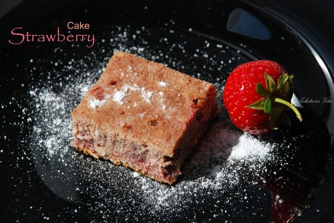 Sunday Bliss: Strawberry Cake. Насолода Вихідних: Полуничний Пиріг.