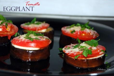 grilled eggplant tomato snack