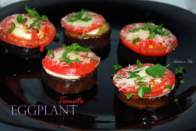 Grilled Eggplant Tomato Snack. Запечені Баклажани з Помідорами та Сиром.