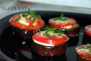 Eggplant Tomatoe Parmesan Snack 3EPSV