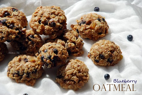 Oatmeal Blueberry Chewy Cookies 3OBSV