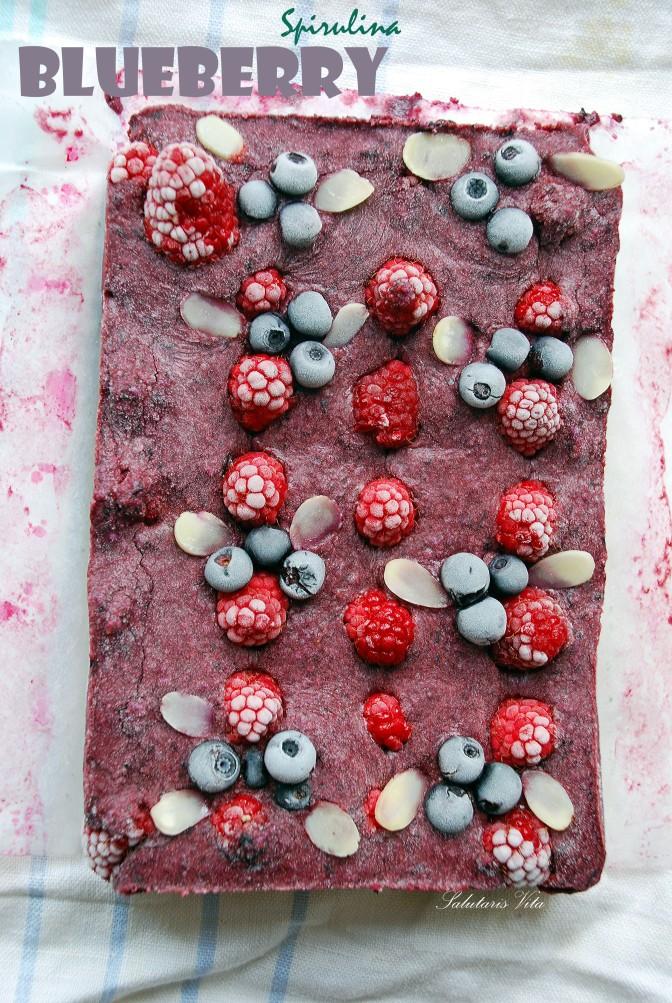 Raw Blueberry Spirulina Cheesecake. Сирий Чорничний Сирник зі Спіруліною.