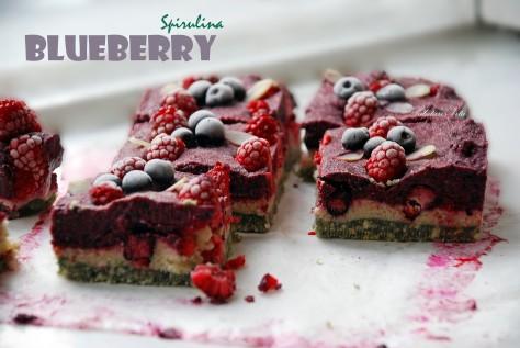 raw blueberry spirulina cheesecake