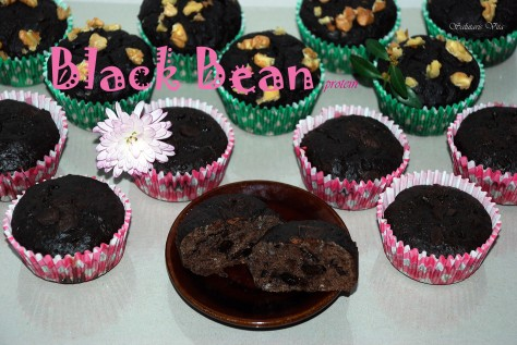 black bean muffin