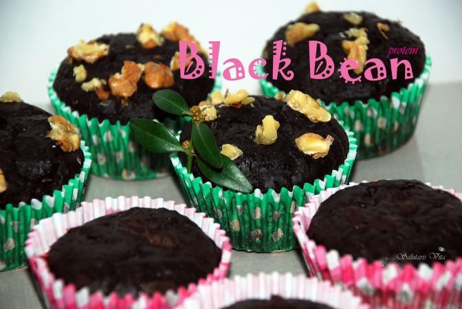 Black Bean Protein Muffins. Протеїнові Кекси з Чорної Фасолі.