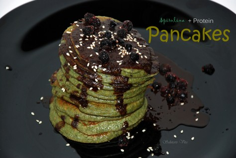 spirulina protein pancakes