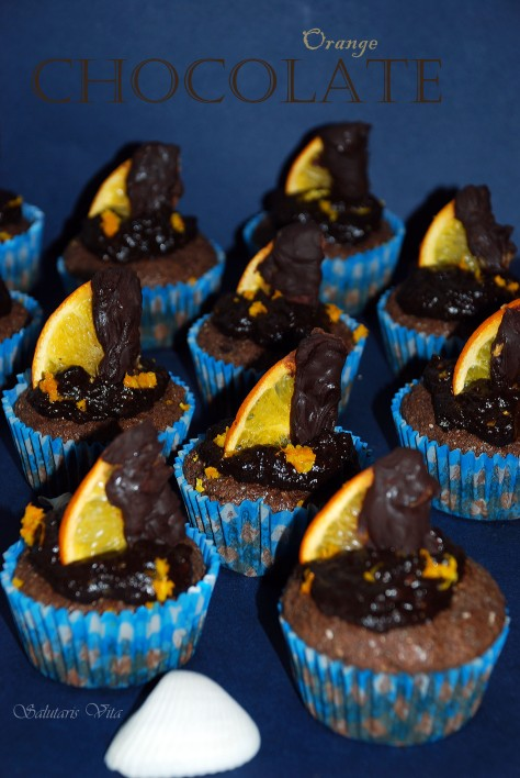 chocolate orange protein muffins