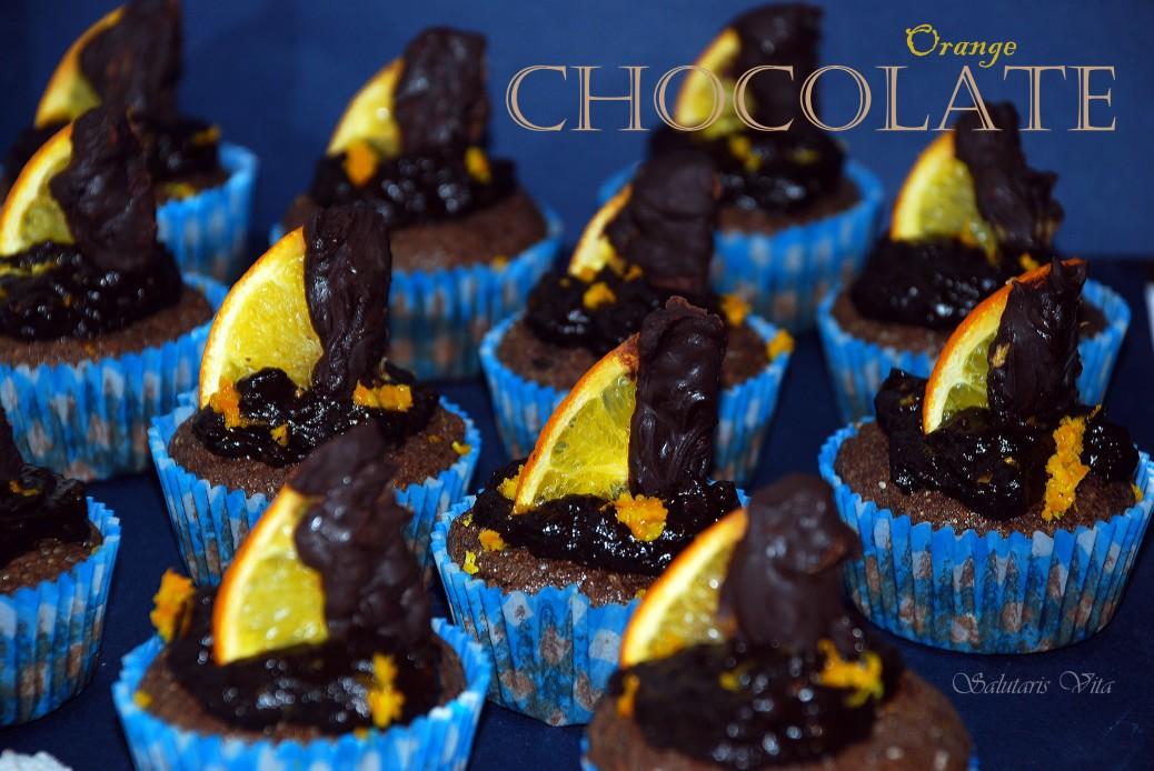 chocolate orange protein muffins