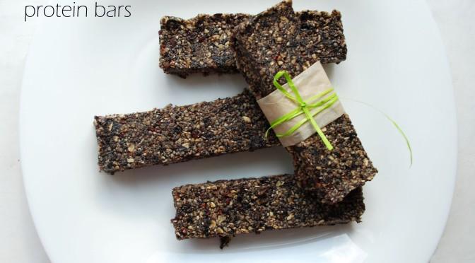 Raw Cacao Nibs Protein Bars. Сирі Протеїнові Батончики з Кусочками Бобів Какао.