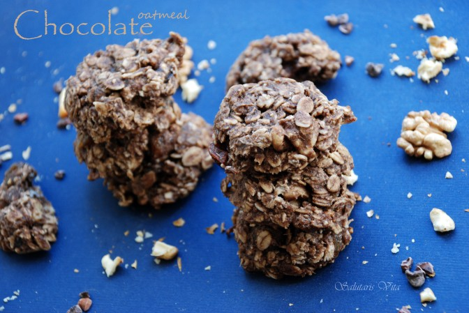 healthy chocolate oatmeal cookies